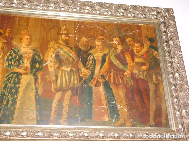 GRABADO ANTIGUO EN MARCO DE MADERA (Arte - Láminas Antiguas)