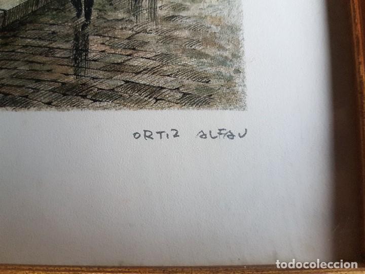 Arte: PARIS, TOUR EIFFEL , ORTIZ ALFAU, ENMARCADA, TAL CUAL SE VE. - Foto 3 - 96995755