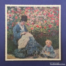 Arte: MADAME MONET AND CHILD. CLAUDE MONET.. Lote 97303083