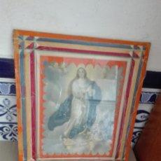 Arte: ANTIGUA FOTO ENMARCADA DE LA VIRGEN. Lote 97489431