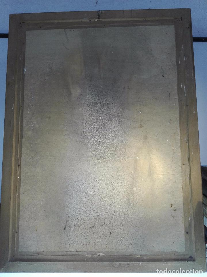Arte: EXTRAÑO CUADRO CON LÁMINA SOBRE CHAPADO DE EXPLOSIÓN DE BOMBA ATÓMICA EN EL PLANETA TIERRA - 110X80- - Foto 6 - 98586907