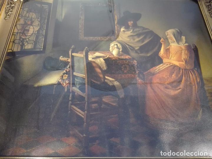 Arte: PRECIOSA LÁMINA ANTIGUA DE ESTILO HOLANDESA - ESCENA COSTUMBRISTA - MARCO BELLÍSIMO - 77 X 68 CM - - Foto 5 - 98587115