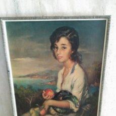 Arte: PINTURA DE FRANCISCO DE RIBERA, IMPRESION BARNIZADA DE 1961, MARCO DE LA EPOCA. Lote 98676647