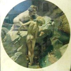 "Arte: LÁMINA ANTIGUA. ""WONDERS OF THE SEA"". FRANK O. SALISBURY. 1912. SOROLLA. ENMARCADA. Lote 145818001"