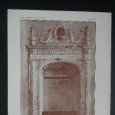 Arte: LAMINA ORIGINAL AÑO 1917,Nº 15 - TOLEDO - PUERTA , SINAGOGA ``ARTE Y DECORACIÓN DE ESPAÑA´´. Lote 100778367
