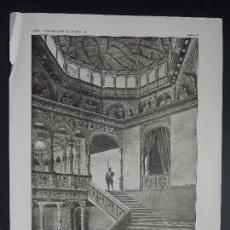 Arte: 3 LAMINAS ORIGINALES AÑO 1918, ZARAGOZA-PALACIO DE LA INFANTA ``ARTE Y DECORACIÓN DE ESPAÑA´´. Lote 101067979