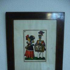 Arte: CANTINERA Y SOLDADO TAMBORILERO ENMARCADA FIRMADA 65CM X 55 CM. Lote 101533899