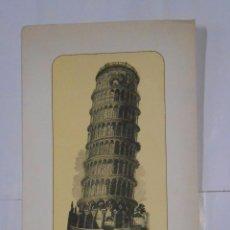 Arte: LAMINA TORRE DE PISA. TORRE EIFFEL. PUBLICIDAD DE DIAZEPAN PRODES. LABORATORIO. TDKPR2. Lote 102344899