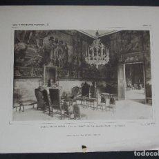 Arte: 3 LAMINAS ORIGINALES AÑO1918,PALMA DE MALLORCA-MARQUES DE CAMPOFRANCO``ARTE Y DECORACIÓN DE ESPAÑA´´. Lote 102786291