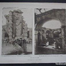 Arte: LOTE 3 LAMINAS ORIGINALES AÑO 1918, BARCELONA- ``ARTE Y DECORACIÓN DE ESPAÑA´´. Lote 102790791