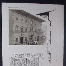 Arte: 2LAMINAS ORIGINALES AÑO1918,PALMA DE MALLORCA-PALACIO DEL AYUNTAMIENTO`ARTE Y DECORACIÓN DE ESPAÑA´´. Lote 102791831