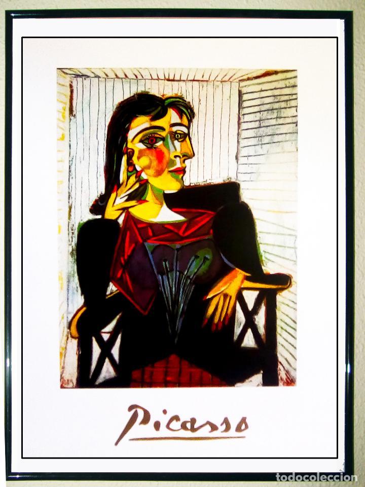 LAMINA DE OBRA DE - PICASSO - RETRATO DE DORA MAAR - IMPRESO EN ITALIA 1999, MUSEO DE PARIS 50X70 C (Arte - Láminas Antiguas)