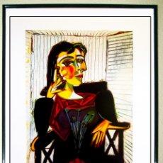Arte: LAMINA DE OBRA DE - PICASSO - RETRATO DE DORA MAAR - IMPRESO EN ITALIA 1999, MUSEO DE PARIS 50X70 C. Lote 103491403