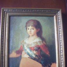 Arte: CUADRO LAMINA BARNIZADA Y MARCO MADERA DORADO - MEDIDAS 30,5 X 36,5 CM.. Lote 103817083