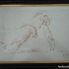 Arte: APUNTE TAURINO FIRMADO Y ENMARCADO.. Lote 103829723