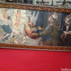 Arte: SAN ANTONIO ANTIGUO CUADRO CON LA APARICION DEL NIÑO JESUS. Lote 103971151