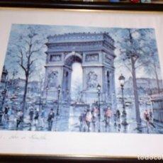 Arte: LÁMINA PARISINA ENMARCADA - FIRMA SOBRE LÁMINA - MUY BELLA. Lote 104264147