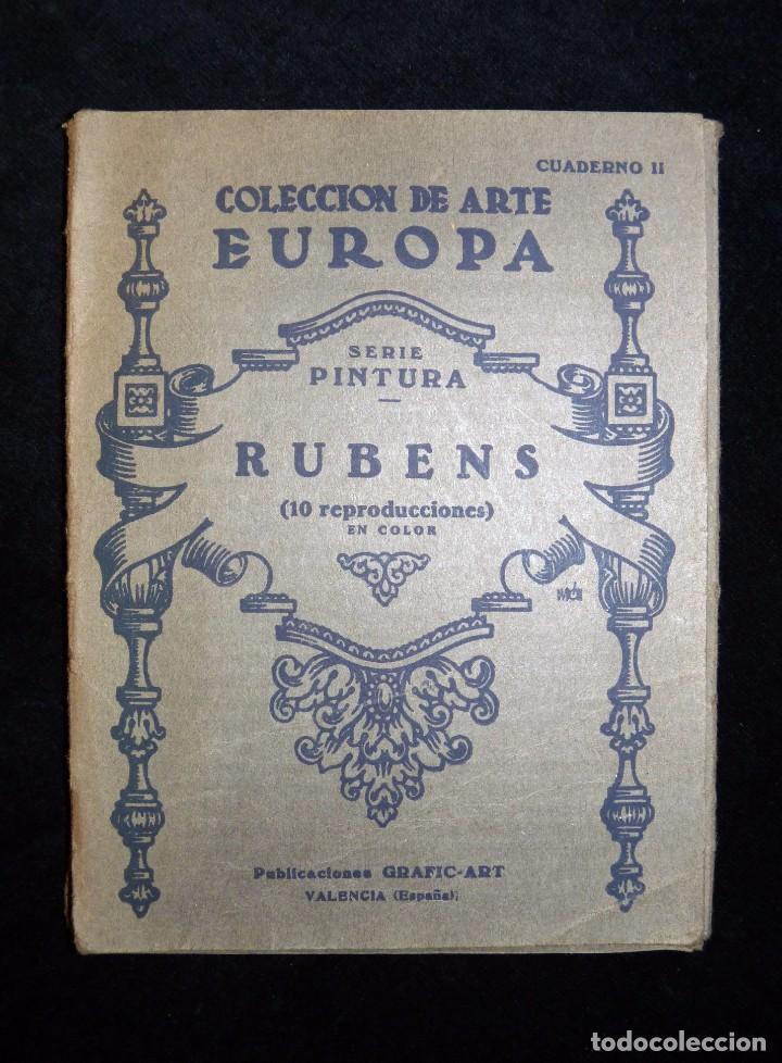 Arte: RUBENS. COLECCIÓN DE ARTE EUROPA. 10 REPRODUCCIONES EN COLOR. PUBLICACIONES GRAFIC-ART. VALENCIA - Foto 2 - 104423771