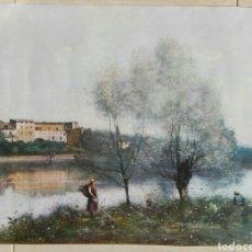 Arte: JEAN BAPTISTE CAMILLE COROT (FRANCIA 1796-1875) - LAMINA 58 X 43 - VER FOTOS. Lote 53033917