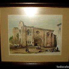 Arte: SERIE DE GRABADOS DE ZAMORA LÁMINA I ENMARCADA IGLESIA DE LA MAGDALENA. ZAMORA.. Lote 105630235