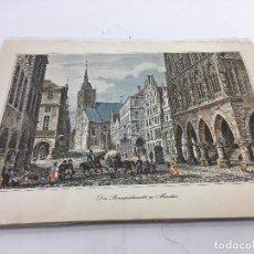 Arte: 12 LAMIINAS EN CARTULINA DE PAISAJES URBANOS ALEMANES - J.M. KOLB, J HOFFMEISTER, ETC. Lote 105895115