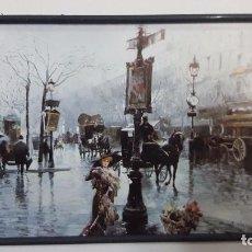 Arte: CUADRO LAMINA DE PARIS CON FIRMA 33 X 27 CM. Lote 105990899