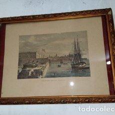 Arte: CUADRO LAMINA ENMARCADA CUSTOM HOUSE CADIZ. Lote 106998607