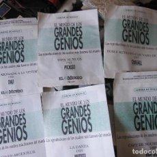 Arte: GRANDES GENIOS DE LA PINTURA REPRODUCCIONES DE LOS CUADROS MÁS FAMOSOS DEL MUNDO (45 X 35 CMS.). Lote 107006919
