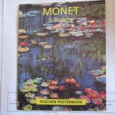 Arte: MONET POSTERBOOK CON 6 LÁMINAS DE 30 X 24 CMS. ALTO GRAMAJE. Lote 107007123