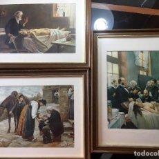 Arte: TRES CUADROS CON IMÁGENES MEDICAS ANTIGUAS. Lote 107396211
