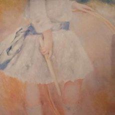 Arte: LÁMINA EFECTO ÓLEO RENOIR NIÑA CON ARO. Lote 108338355