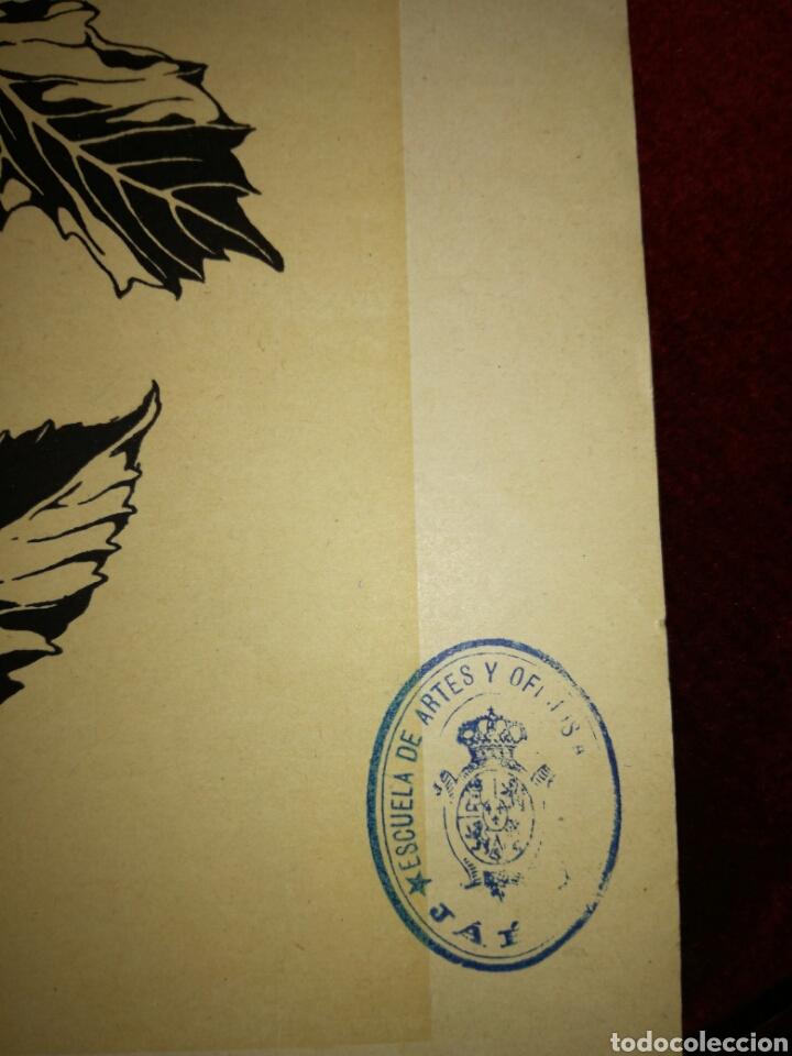 Arte: Antigua lámina de dibujo - Foto 4 - 108929199