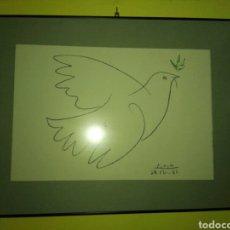 Arte: LAMINA PABLO PICASSO PALOMA DE LA PAZ. Lote 109293072
