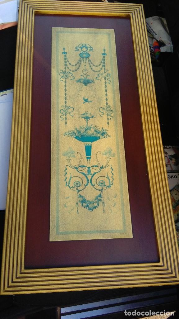CUADRO ENMARCADO CON LAMINA, MEDIDAS: 80 X 39 (Arte - Láminas Antiguas)