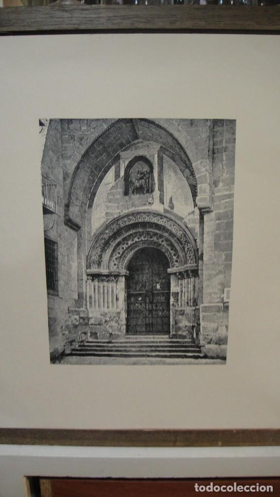 LAMINA CON GRABADO - PUERTA IGLESIA DE SAN MARTIN , SALAMANCA (Arte - Láminas Antiguas)