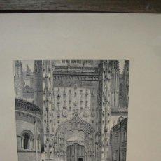Arte: LAMINA CON GRABADO - PATIO CHICO DE LA CATEDRAL DE SALAMANCA. Lote 110779879