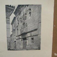 Arte: LAMINA CON GRABADO - CASA DE LAS MUERTES , SALAMANCA. Lote 110780143