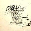 Arte: LÁMINA SALVADOR DALÍ (EL ANGEL DE PORT LLIGAT) DE GRÁFICAS OLIVA. Lote 111041219