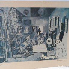 Arte: LAMINA LEVALIVER PARIS 1972 Nº XXVIII LAS MENINAS CONJUNTO MUSEO PICASSO . Lote 111777467