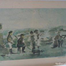 Arte: LAMINA LEVALIVER PARIS 1972 Nº XXXII - ALDEANOS GALLEGOS MUSEO PICASSO . Lote 111777883