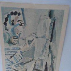 Arte: LAMINA LEVALIVER PARIS 1972 Nº IX PINTOR TRABAJANDO MUSEO PICASSO . Lote 111778363