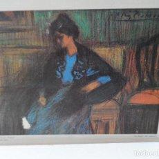 Arte: LAMINA LEVALIVER PARIS 1972 Nº XXV LA MUJER DEL MANTON MUSEO PICASSO . Lote 111778671