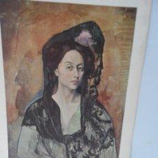 Arte: LAMINA LEVALIVER PARIS 1972 Nº XVI RETRATO DE LA SEÑORA CANAL MUSEO PICASSO . Lote 111779003