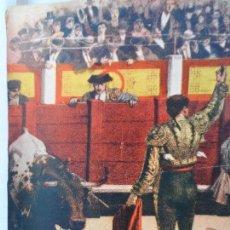 Arte: LAMINA ANTIGUA DESPUES DE UNA GRAN FAENA CORRIDA TOROS EN MURCIA 1884. Lote 111824023