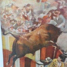 Arte: LAMINA ANTIGUA CORRIDA TOROS , SALTO DE DE LA BARRERA . Lote 111824195