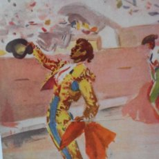 Arte: LAMINA ANTIGUA TORERO BRINDANDO , FDO ANTONIO CASERO. Lote 111924711