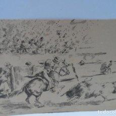Arte: DIBUJO JIMENEZ LLORENTE LAMINA S TOROS . Lote 111928791
