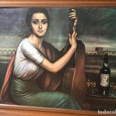 Arte: CUADRO LITOGRAFÍA EN LIENZO. JULIO ROMERO DE TORRES. ENORME FORMATO, TAMAÑO REAL. Lote 112309503