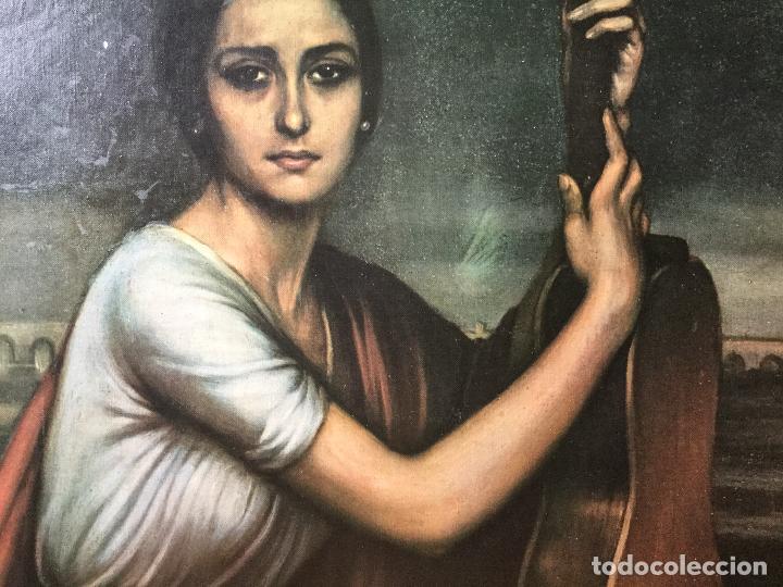 Arte: Cuadro Litografía en Lienzo. Julio Romero de Torres. Enorme Formato, Tamaño Real - Foto 2 - 112309503