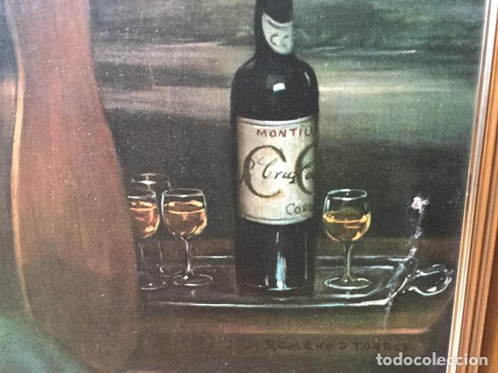 Arte: Cuadro Litografía en Lienzo. Julio Romero de Torres. Enorme Formato, Tamaño Real - Foto 5 - 112309503